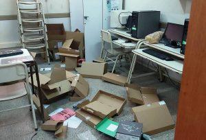 Robo y daños en el edificio de la Secundaria 14