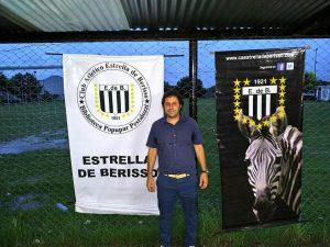 Felipe De Sagastizábal, DT de Estrella de Berisso (imagen de Estrella de Berisso)