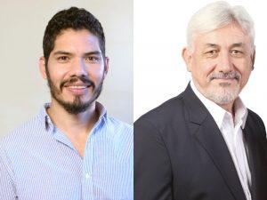 Alejandro Sepúlveda y Héctor Heberling, respectivamente pre-candidatos a concejal y diputado provincial.