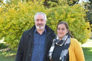 Alejandro Bodart, precandidato a diputado nacional y Patricia Mesa, primera pre-candidata a concejal.